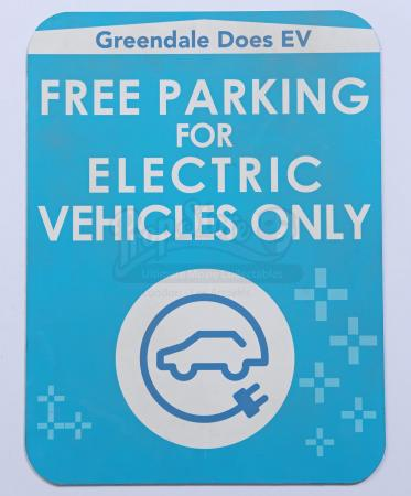 Lot # 15 - Various Episodes: Greendale EV Parking Only Sign