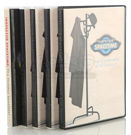 Lot # 102 - Various Episodes: Five Abed Nadir (as portrayed by Danny Pudi) Inspector Spacetime DVD Cases