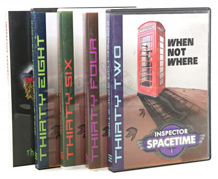 Lot # 118 - Various Episodes: Five Abed Nadir (as portrayed by Danny Pudi) Inspector Spacetime DVD Cases