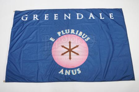 "Lot # 120 - Various Episodes: Greendale's ""E Pluribus Anus"" School Flag"