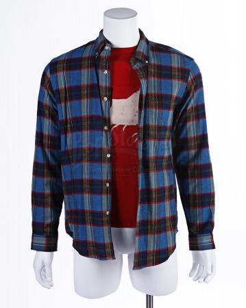Lot # 151 - Various Episodes: Abed Nadir's (as portrayed by Danny Pudi) Blue Flannel and Shirt