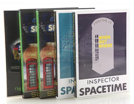 Lot # 154 - Various Episodes: Five Abed Nadir (as portrayed by Danny Pudi) Inspector Spacetime DVD Cases