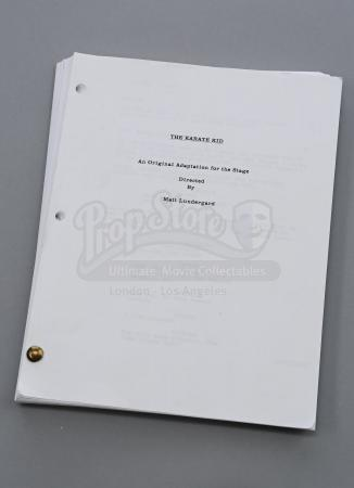 "Lot # 172 - S6E03 - "" Queer Studies and Advanced Waxing"": Matt Lundergard's (as portrayed by Jason Mantzoukas) ""The Karate Kid"" Stageplay Script"