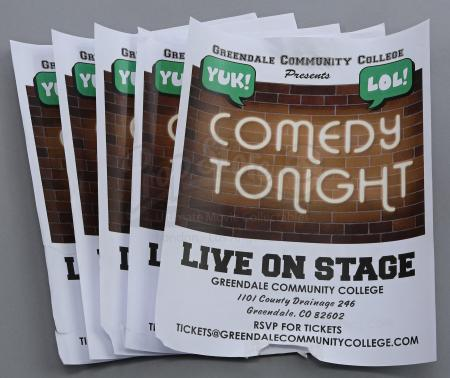 "Lot # 249 - S6E06 - ""Basic Email Security"": Five GCC Comedy Show Flyers"