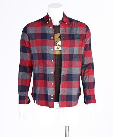 "Lot # 292 - S6E09 - ""Grifting 101"": Abed Nadir's (as portrayed by Danny Pudi) Red and Brown Flannel and Shirt"
