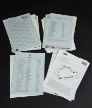RUSH - Assorted F1 Race Timing Sheets, Grid Lineups & Circuit Maps (RP152)