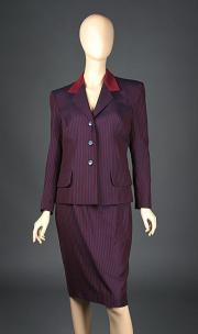 THE IRON LADY (2011) - Margaret Thatcher's (Meryl Streep) Striped Suit