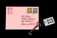 THE GRAND BUDAPEST HOTEL (2014) - Grand Budapest Hotel ZZ Room Key and Letter
