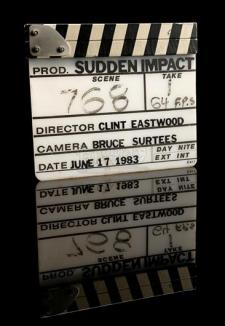 SUDDEN IMPACT (1983) - Clapperboard