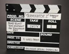 TERMINATOR 2: JUDGMENT DAY (1991) - Visual Effects Clapperboard