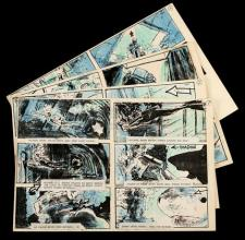 JAWS: THE REVENGE (1987) - Hand-Coloured Storyboard Set