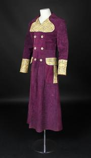 A CLOCKWORK ORANGE (1971) - Alex's (Malcolm McDowell) Purple Suede & Snakeskin Pattern Coat