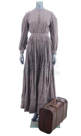 Lot # 25: THE BALLAD OF BUSTER SCRUGGS - Alice Longabaugh's (Zoe Kazan) Plaid Dress and Suitcase