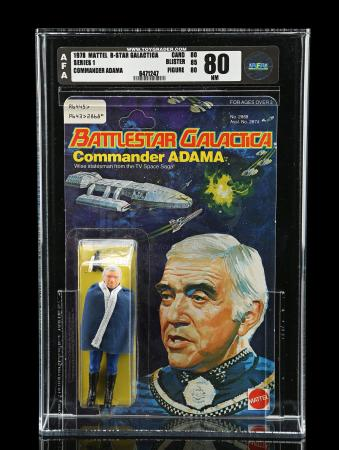 Lot # 553: Commander Adama Series 1 AFA 80