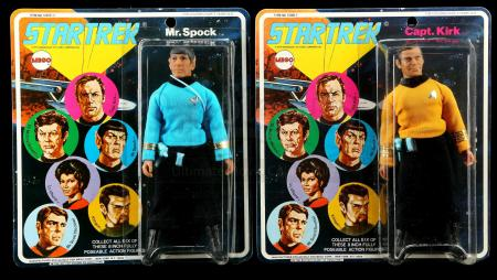 Lot # 633: Capt. Kirk and Mr. Spock Series 1 Figures