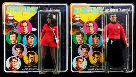 Lot # 634: Lt. Uhura and Mr. Scott (Scottie) Series 1 Figures