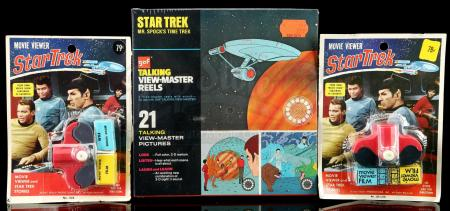Lot # 638: Star Trek Talking View-Master Reels and Two Movie Viewers