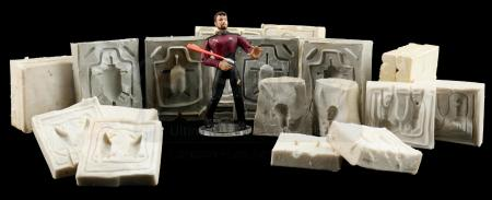 Lot # 649: Hand-Painted Commander William T. Riker Hardcopy with Riker and Romulan Mixed Mold Set
