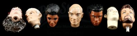 Lot # 650: Eight Hand-Painted Star Trek Hardcopy Heads