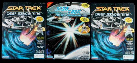 Lot # 652: Two Deep Space Nine and One The Next Generation Proof Cards