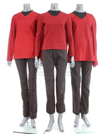 Lot # 117: STAR TREK (2009) & STAR TREK INTO DARKNESS (2013) - Three Men's USS Enterprise Operations Uniforms