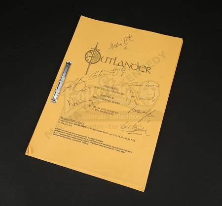 Lot #1 - Outlander Charity Script Auction - Maria Doyle Kennedy's Cast Autographed Script - Episode 510 'Mercy Shall Follow Me' Goldenrod Draft