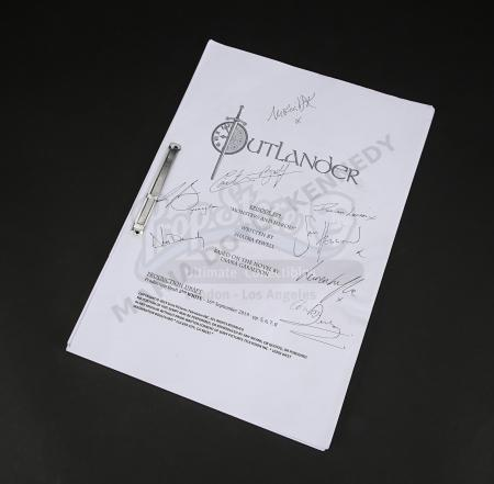 Lot #2 - Outlander Charity Script Auction - Maria Doyle Kennedy's Cast Autographed Script - Episode 509 'Monsters And Heroes'