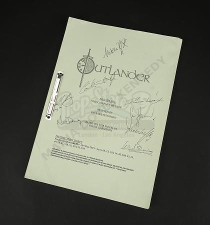 Lot #9 - Outlander Charity Script Auction - Maria Doyle Kennedy's Cast Autographed Script - Episode 504 'The Company We Keep' Green Draft