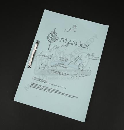 Lot #10 - Outlander Charity Script Auction - Maria Doyle Kennedy's Cast Autographed Script - Episode 503 'Free Will' 2nd Blue Draft