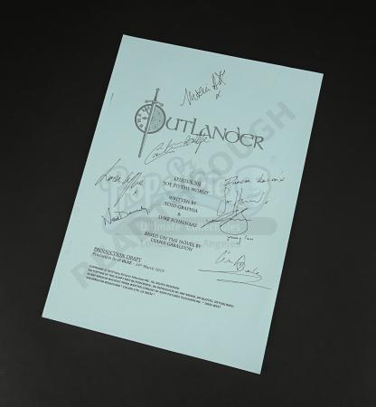 Lot #11 - Outlander Charity Script Auction - Maria Doyle Kennedy's Cast Autographed Script - Episode 502 'Joy To The World' Blue Draft