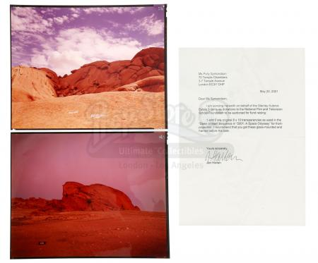 Lot #2 - 2001: A SPACE ODYSSEY (1968) - Dawn of Man Sequence Background Transparencies from Kubrick Estate
