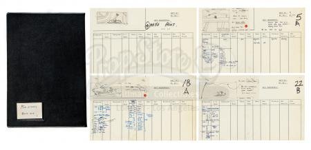 "Lot #13 - ALIEN (1979) - Hand-Drawn Ridley Scott ""Ridleygram"" Miniatures Storyboards and Shot List"
