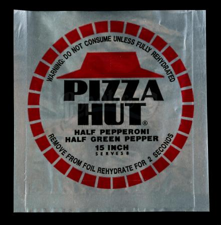 Lot #86 - BACK TO THE FUTURE PART II (1989) - McFly Family's Dehydrated Pizza Hut Wrapper