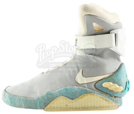 Lot #92 - BACK TO THE FUTURE PART II (1989) - Marty McFly's (Michael J. Fox) Left Nike MAG Sneaker