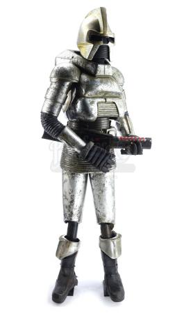 Lot #124 - BATTLE OF GALACTICA (THEME PARK ATTRACTION, 1979-1992) - Full-Size Cylon Animatronic Figure