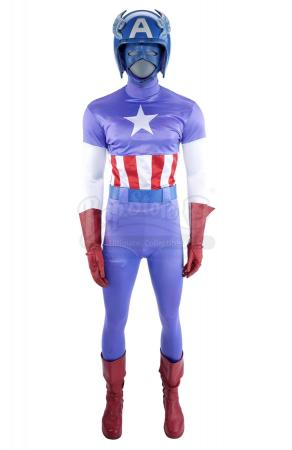Lot #151 - CAPTAIN AMERICA (T.V. MOVIE, 1979)/CAPTAIN AMERICA II: DEATH TOO SOON (T.V. MOVIE, 1979) - Steve Rogers' (Reb Brown) Captain America Costume