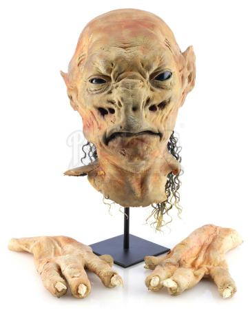 Lot #211 - DOCTOR WHO: THE END OF THE WORLD (2005) - Ambassador from the City State of Binding Light's Head and Hands
