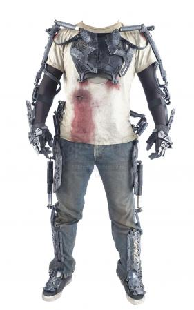 Lot #224 - ELYSIUM (2013) - Max's (Matt Damon) Bloodied Costume and H.U.L.C. Suit