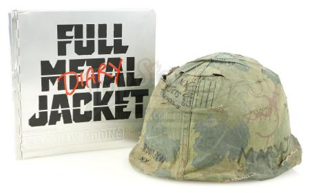 Lot #263 - FULL METAL JACKET (1987) - Screen-Matched Helmet Cover and Matthew Modine-Signed Production Diary
