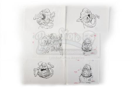 "Lot #272 - GHOSTBUSTERS (1984) - Set of ""Onionhead"" (Slimer) Printed Design Copies"