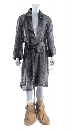Lot #342 - HOW THE GRINCH STOLE CHRISTMAS (2000) - Grinch's (Jim Carrey) Black Mesh Robe, Socks and Shoes