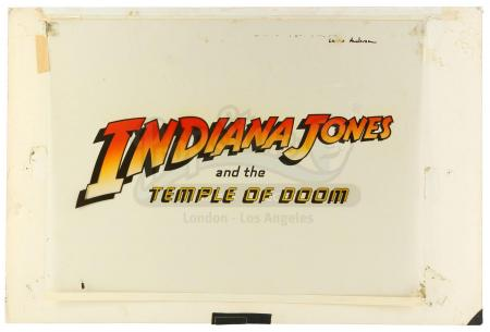 Lot #360 - INDIANA JONES AND THE TEMPLE OF DOOM (1984) - Hand-Painted Master Title Logo Artwork