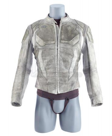 Lot #502 - OBLIVION (2013) - Jack's (Tom Cruise) Screen-Matched Leather Technician's Jacket and Shirt