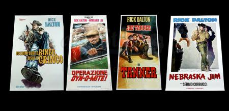 Lot #504 - ONCE UPON A TIME...IN HOLLYWOOD (2019) - Set of Four Promotional Rick Dalton (Leonardo DiCaprio) Posters