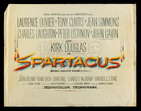 Lot #595 - SPARTACUS (1960) - Hand-Drawn Poster Concept Illustration