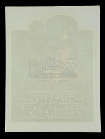 Lot #675 - STAR WARS: A NEW HOPE (1977) - Unused Brothers Hildebrandt Iron-On T-Shirt Decal