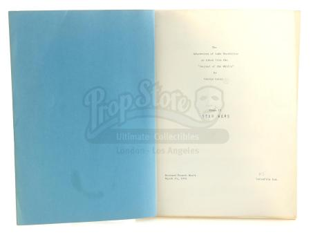 Lot #680 - STAR WARS: A NEW HOPE (1977) - Production-Used Revised Fourth Draft Script