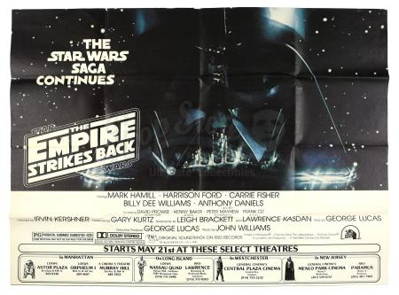 Lot #693 - STAR WARS: THE EMPIRE STRIKES BACK (1980) - New York Subway Advance 2-Sheet