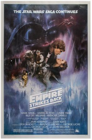 "Lot #694 - STAR WARS: THE EMPIRE STRIKES BACK (1980) - Style A ""Gone with the Wind"" One-Sheet Poster"