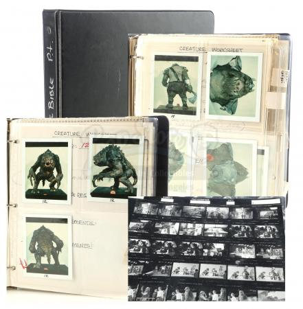 Lot #715 - STAR WARS: RETURN OF THE JEDI (1983) - Phil Tippett's Creature Bible of Photos, Printed and Handwritten Notes